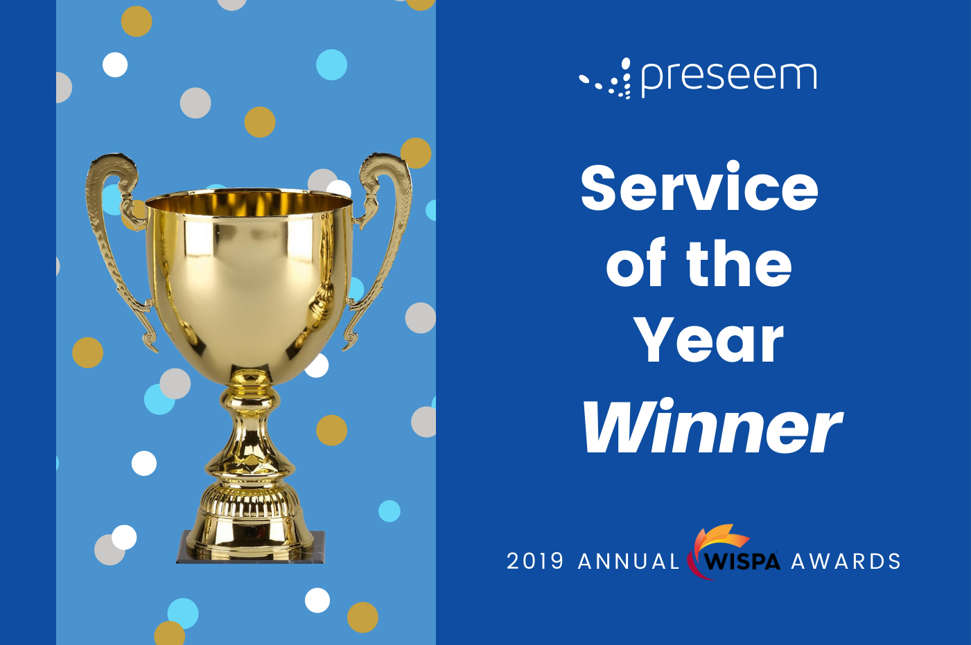 Preseem Wins Service of the Year Award – WISPA Annual Awards 2019
