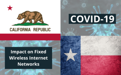 COVID-19 and the Impact on Fixed Wireless Internet Networks: California Vs. Texas